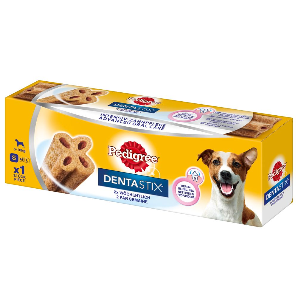 Pedigree Dentastix Twice Weekly are a delicious chew snack for dental care, available in different sizes that are specially adapted to the jaw size of small, mediu...