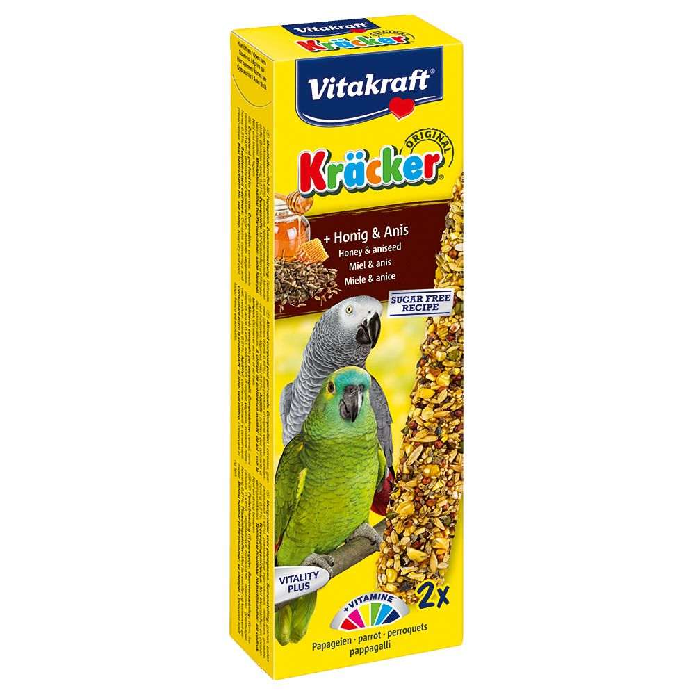 Vitakraft Parrot Cracker Sticks - 2 Honey & Aniseed (180g)