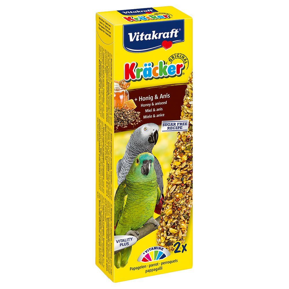 2 friandises miel / anis Vitakraft Crackers, pour perroquet
