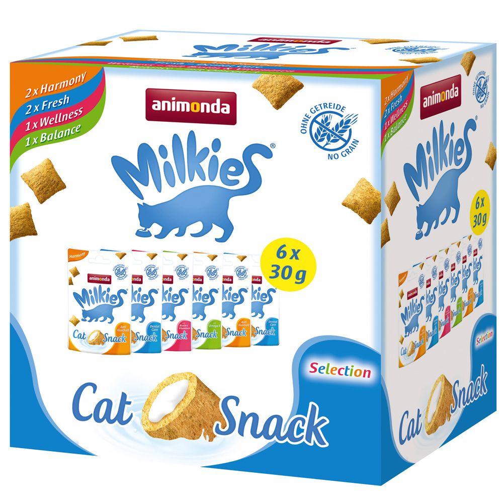 Bilde av Mixed Pack Animonda Milkies Sprø Krokettputer - 6 X 30 G (4 Sorter)
