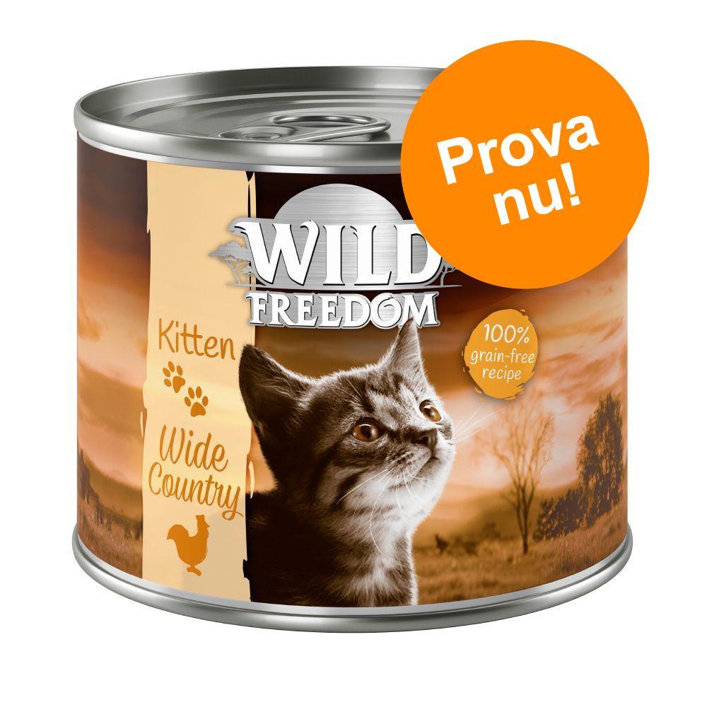 Blandat provpack: Wild Freedom Kitten 6 x 200 g
