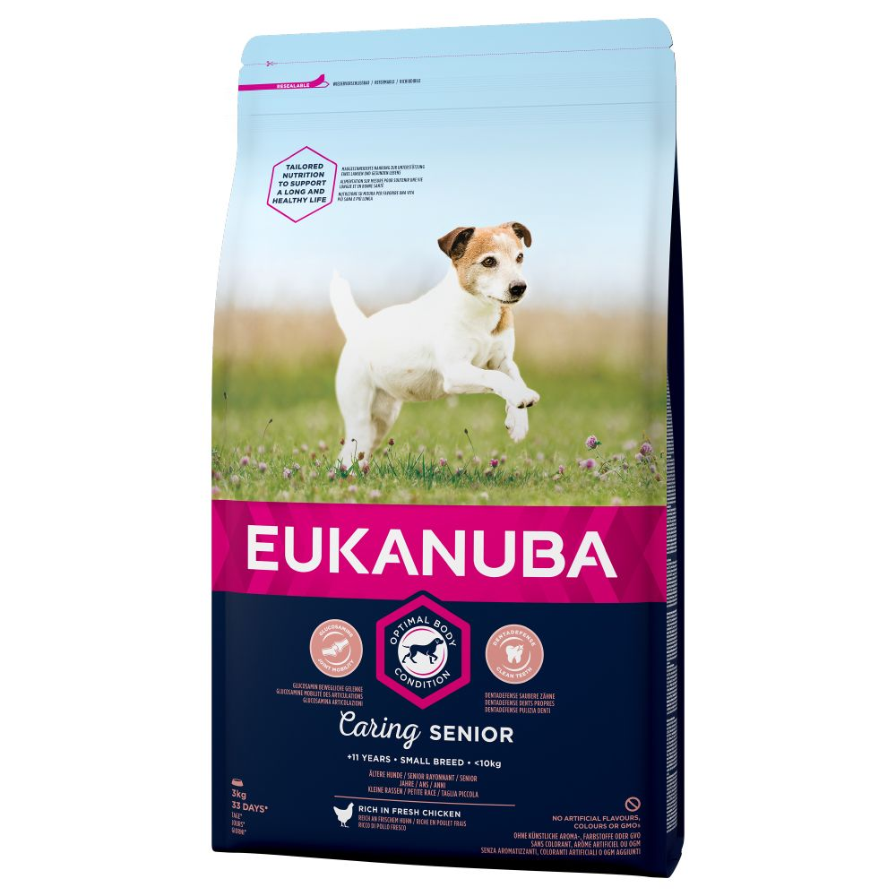 Image of Prezzo speciale! Eukanuba  - 3 kg Caring Senior Small Breed Pollo