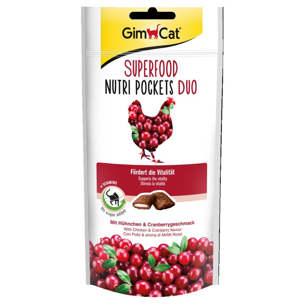 GimCat Superfood Nutri Pockets - Ekonomipack: 3 x 60 g