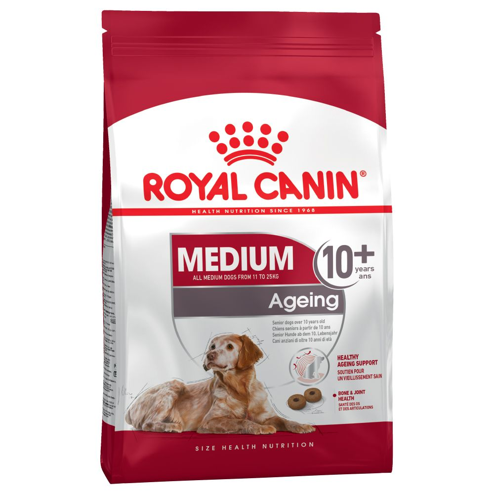 Royal Canin Medium Ageing 10+ is a complete dry dog food for medium sized breed dogs over the age of 10 years. It is made carefully selected nutrients to help your...