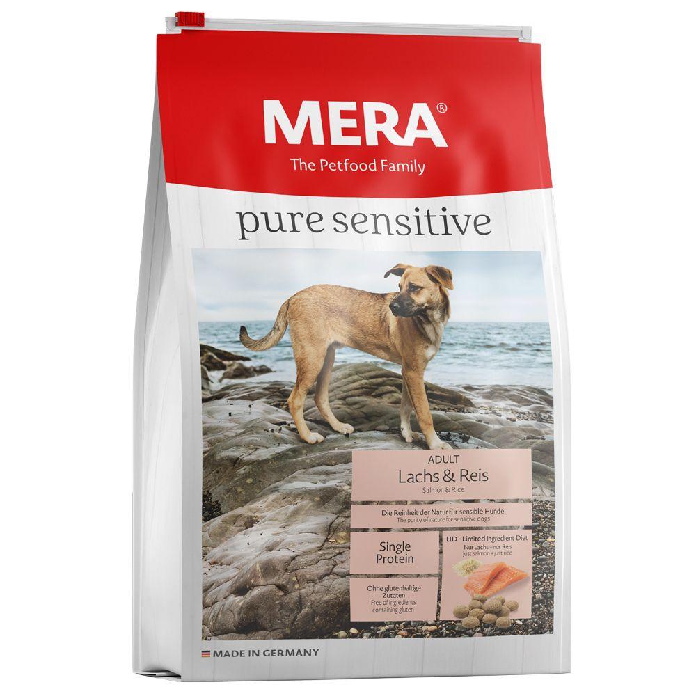 12,5kg pure sensitive saumon, riz MERA - Croquettes pour chien