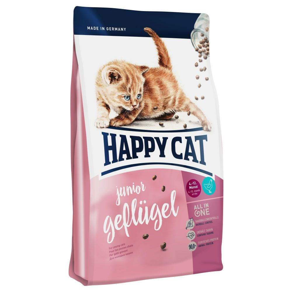 INOpets.com Anything for Pets Parents & Their Pets Happy Cat Junior Poultry Dry Food - 4kg