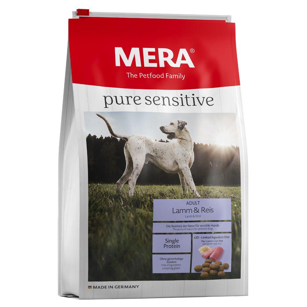 12,5kg pure sensitive agneau, riz MERA - Croquettes pour chien