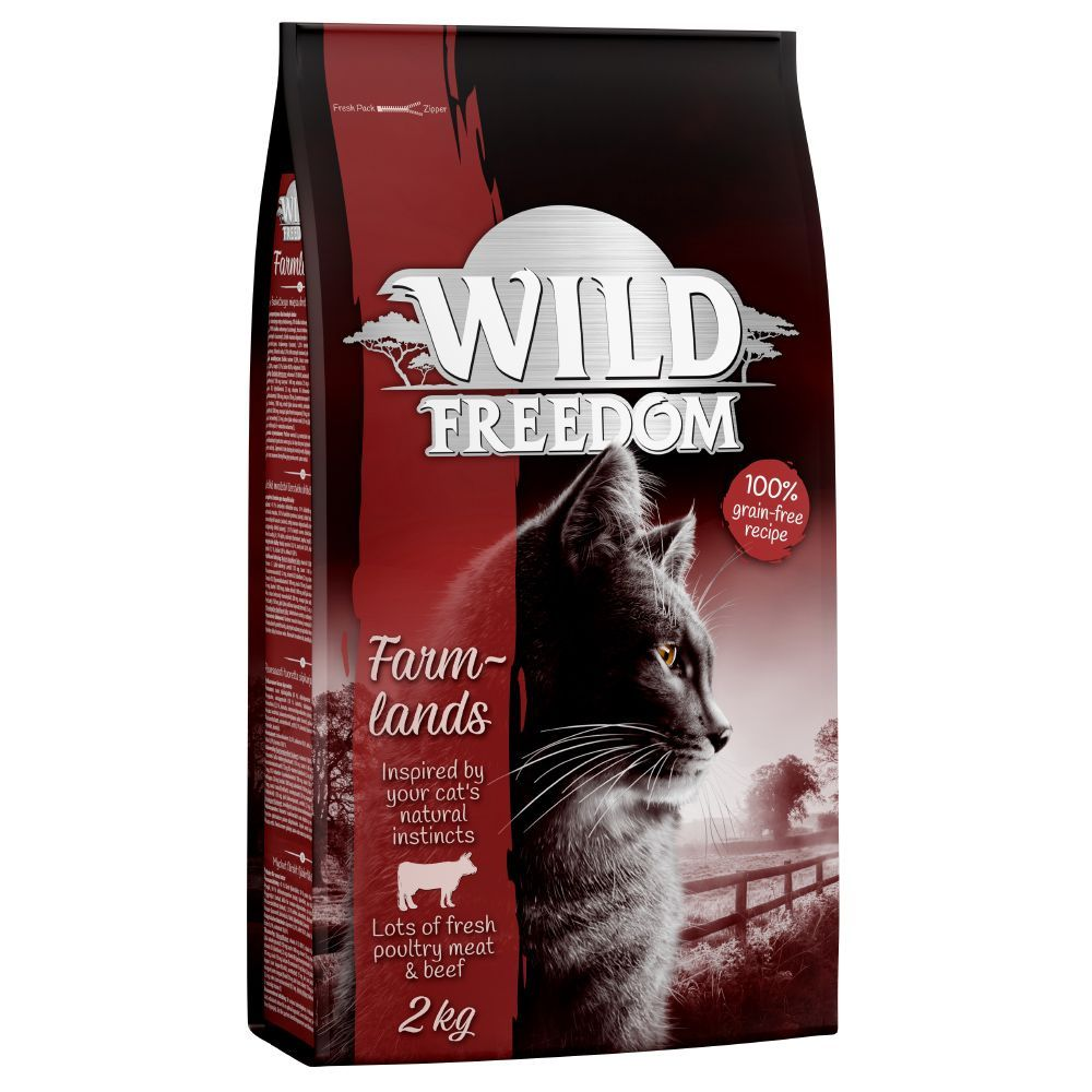2kg Wild Freedom Dry Cat Food + 6 x 200g Wet Food Free!* - Adult Wild Hills - Duck (2kg)