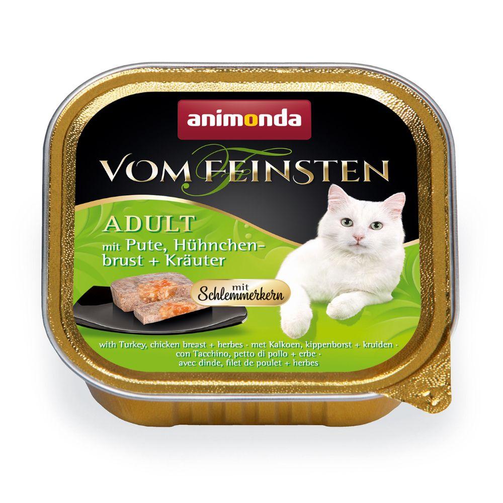 Animonda vom Feinsten Adult med gourmetfyllning 6 x 100 g Kalkon, kycklingbröst & örter