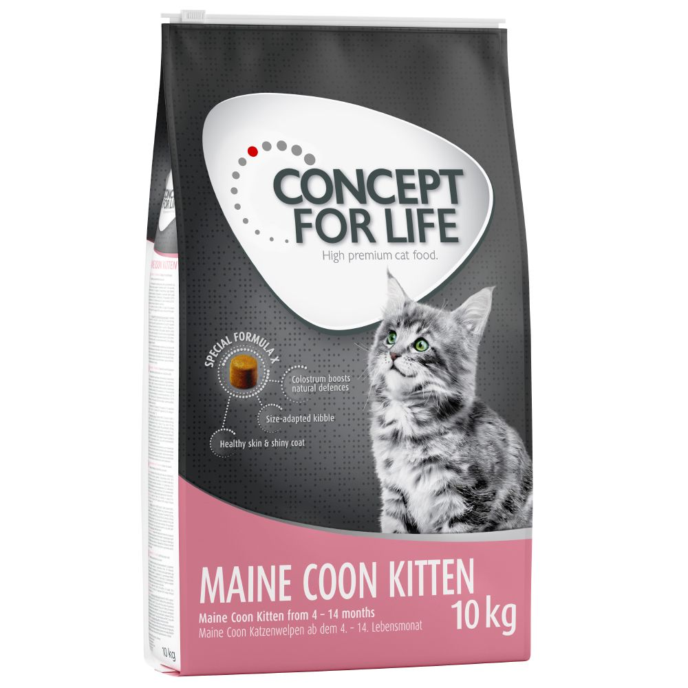 9kg/10kg Concept for Life Dry Cat Food + Winter Reindeer Cat Dangler Free