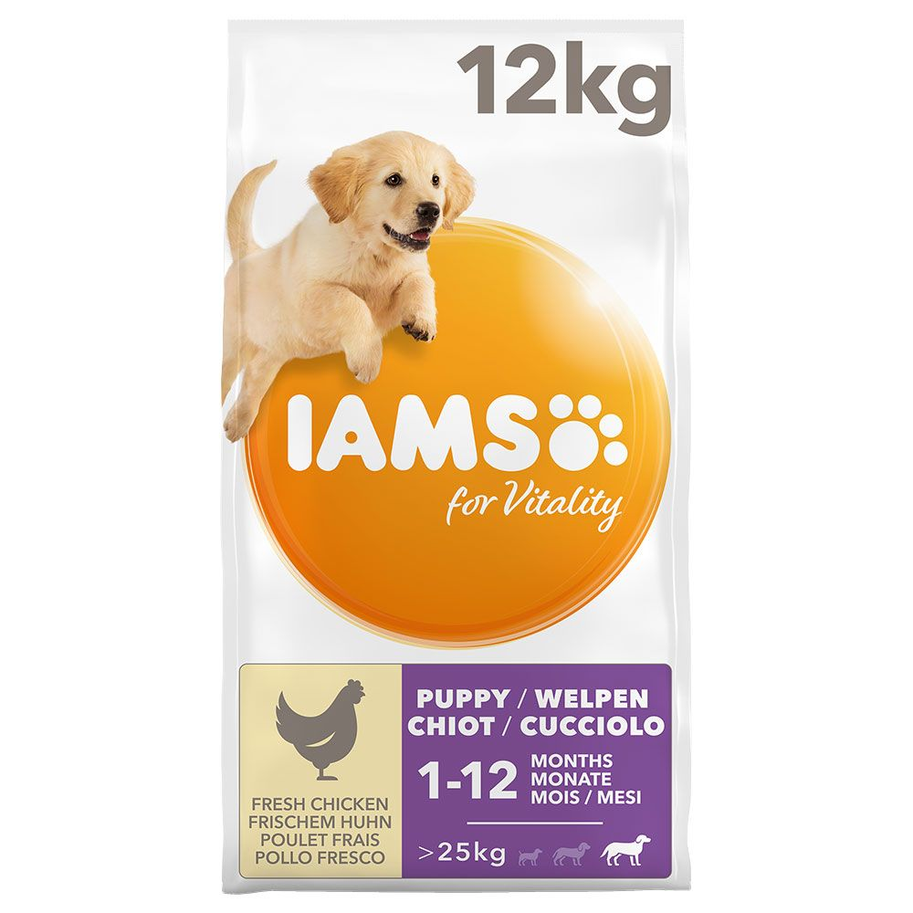 Chicken Large Puppy Junior for Vitality IAMS Dry Dog Food