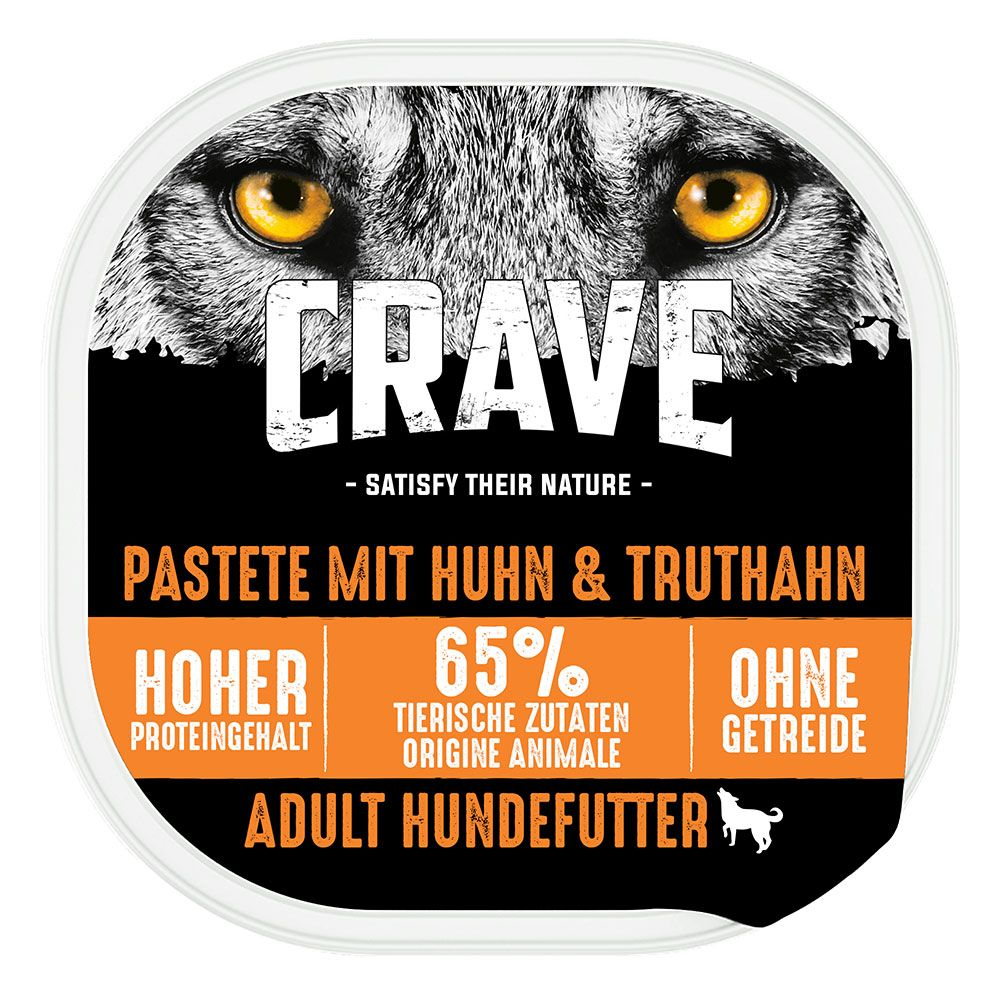 Image of Crave Adult Dog Paté - Set %: 10 x 300 g Salmone & Tacchino