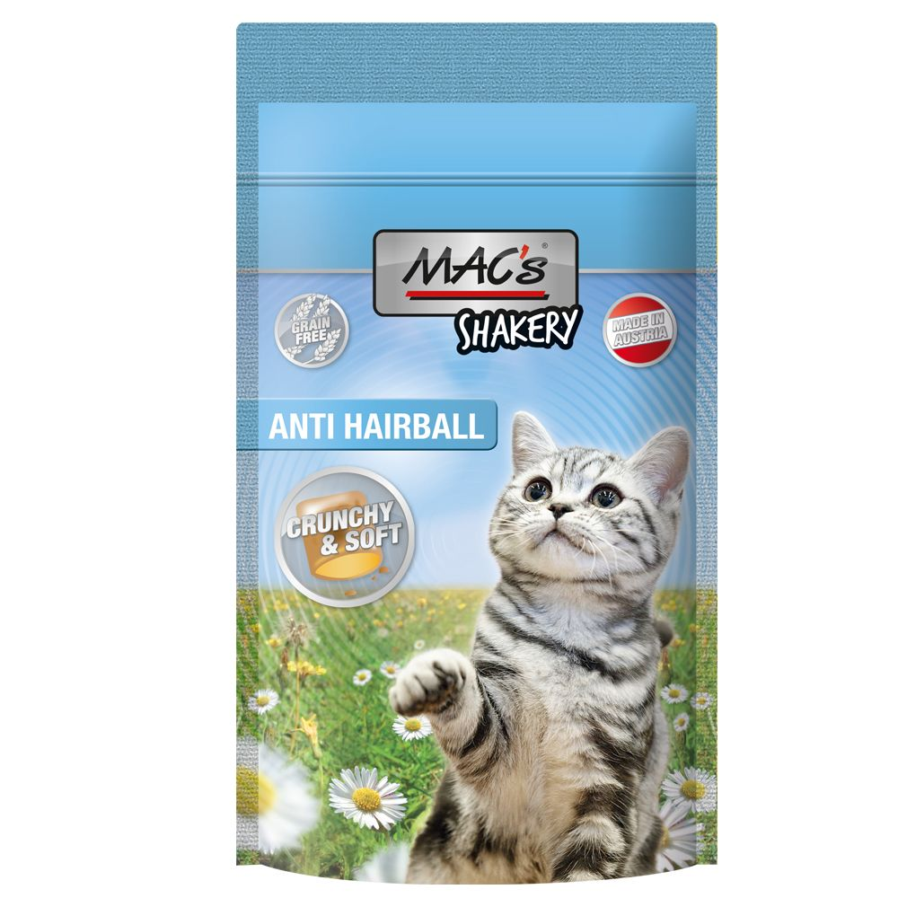 MAC's Shakery Snacks Anti Hairball Ekonomipack: 3 x 60 g