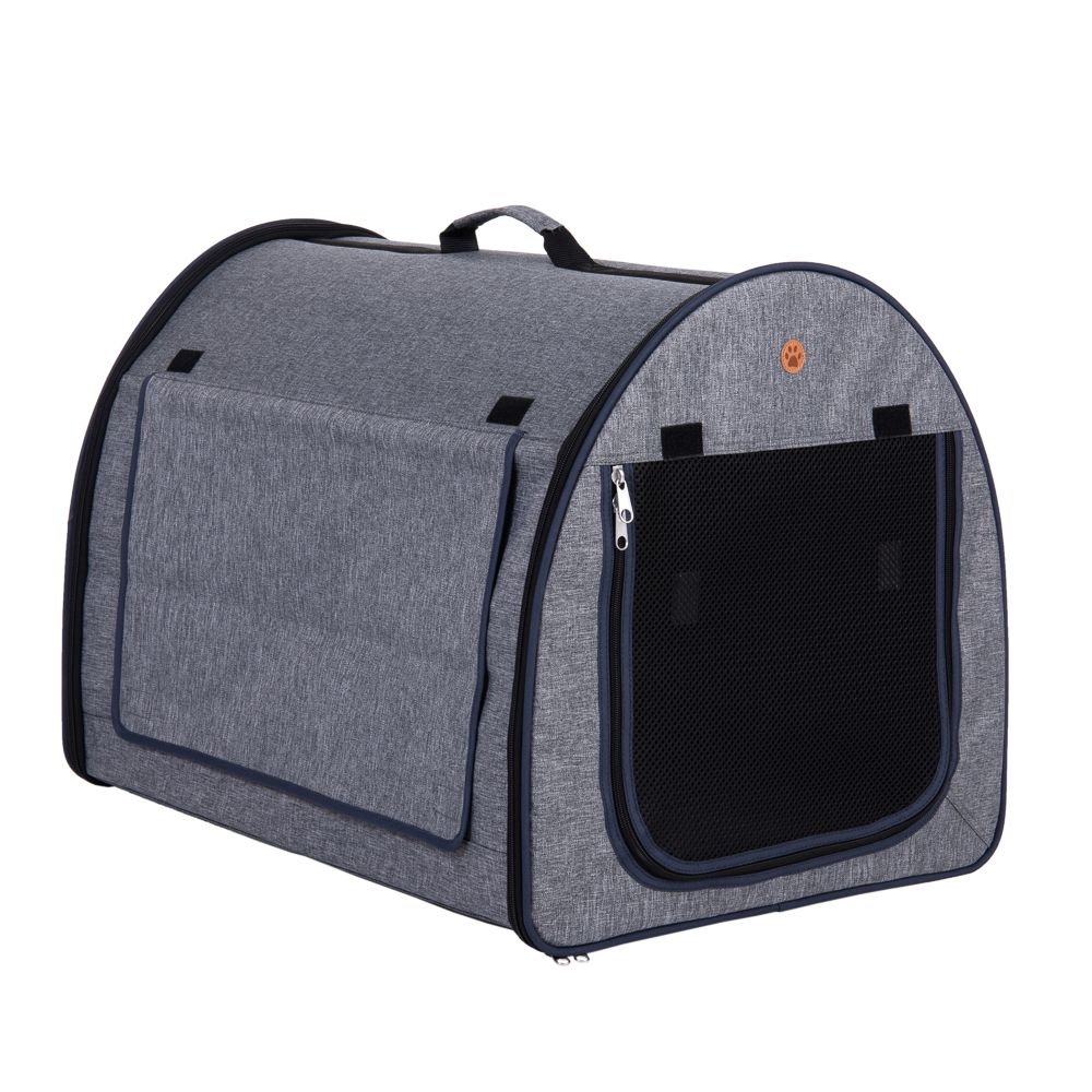 Easy Go Folding Dog Transport Box for Dogs - Grey - Size S