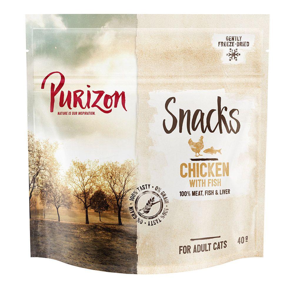 Purizon Snacks Chicken & Fish - Grain Free - Ekonomipack: 3 x 40 g