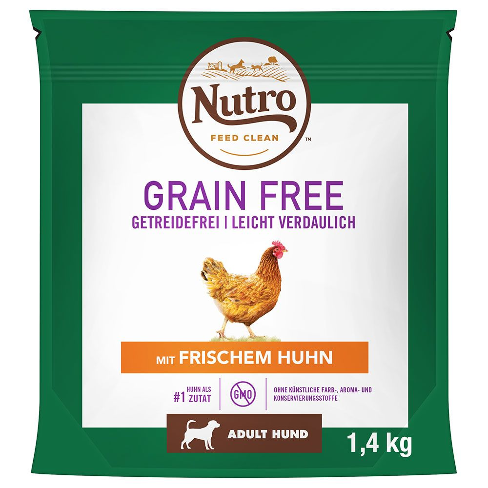 Nutro Dog Grain Free Adult Chicken - Ekonomipack: 2 x 14,5 kg
