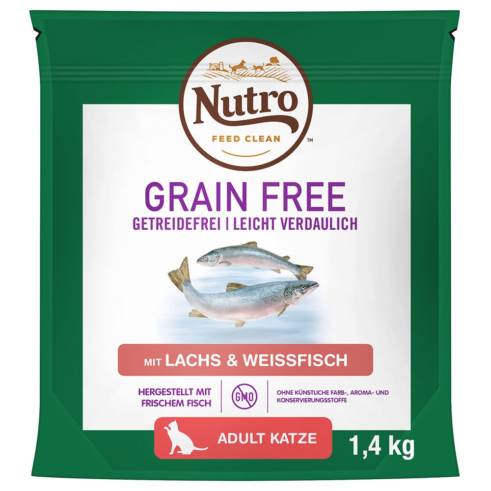 Nutro Cat Grain Free Adult Salmon & Whitefish - Ekonomipack: 3 x 4 kg