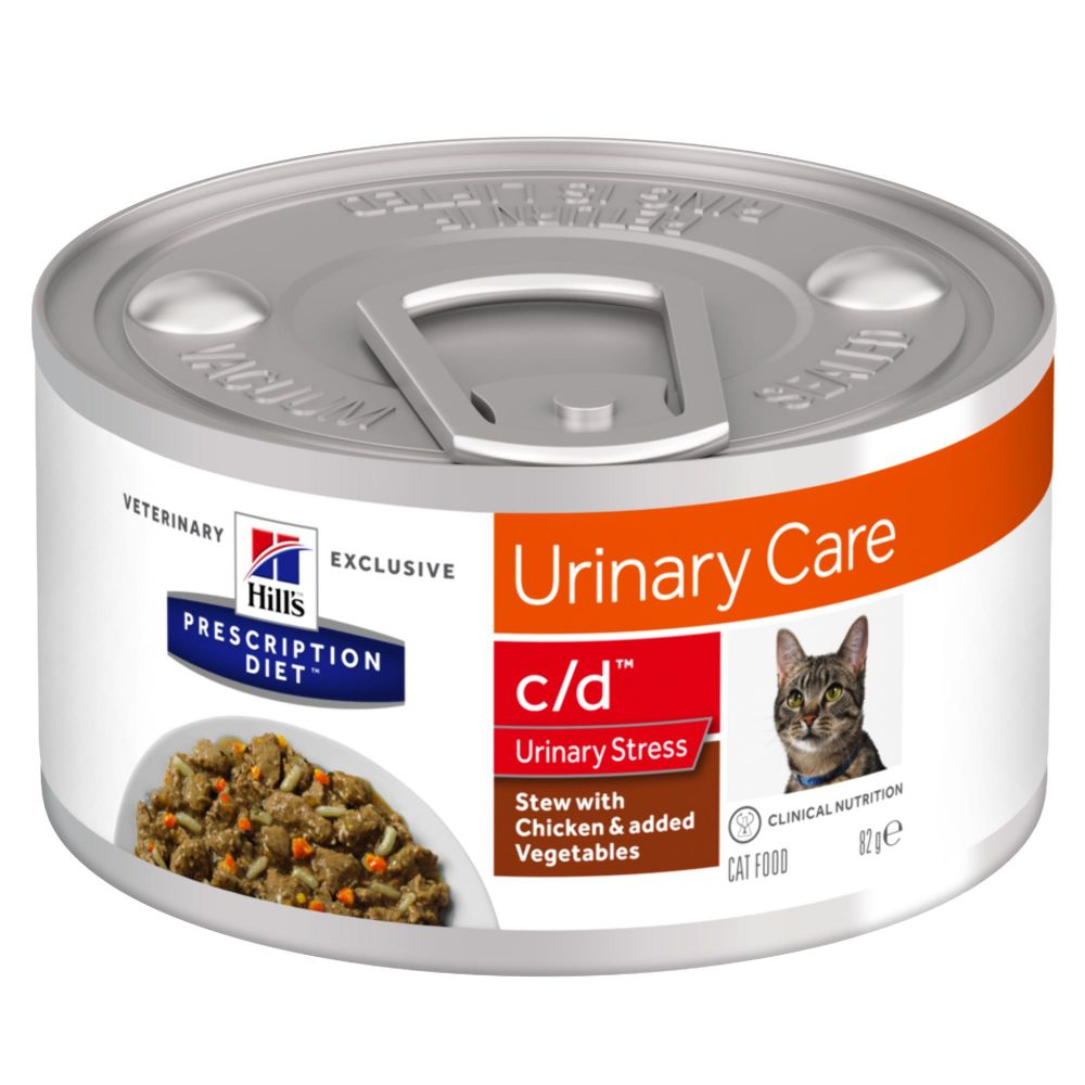 Hill's Prescription Diet c/d Urinary Stress Stew med kyckling - Ekonomipack: 48 x 82 g