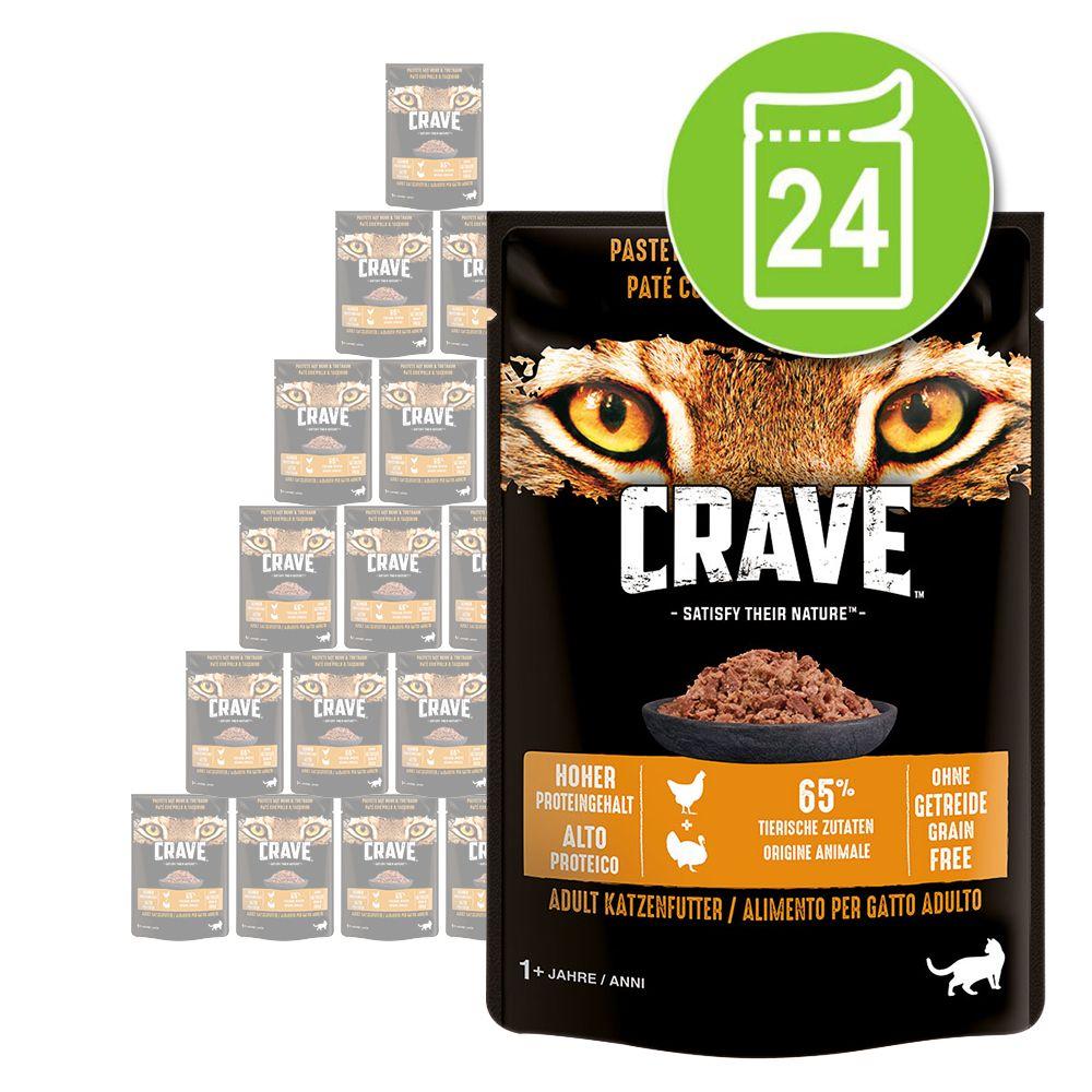Crave Cat Pouch 24 x 85 g Paté Chicken & Turkey