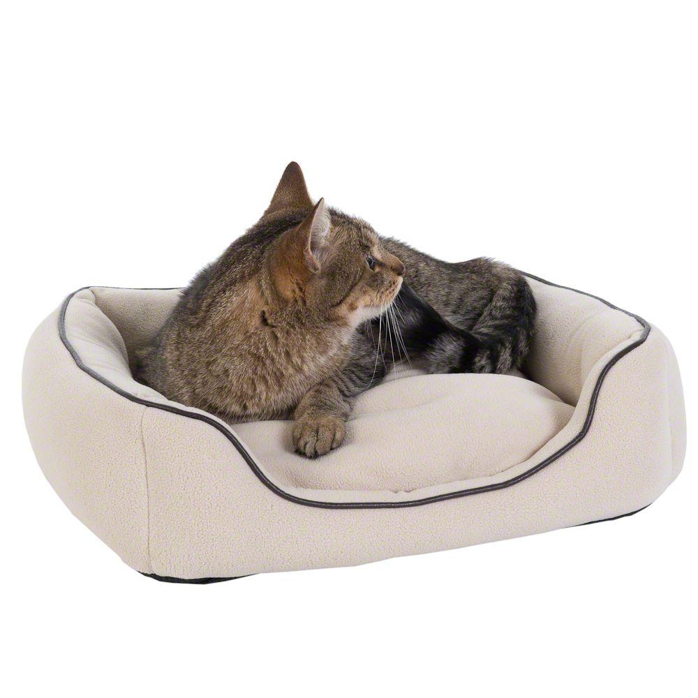 Legowisko dla kota Vanilla, beżowe - Dł. x szer. x wys.: 50 x 45 x 12 cm