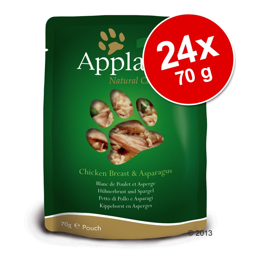 Foto Set Risparmio! Applaws Buste Naturale 24 x 70 g - Filetto di Tonno e Acciughe Intere