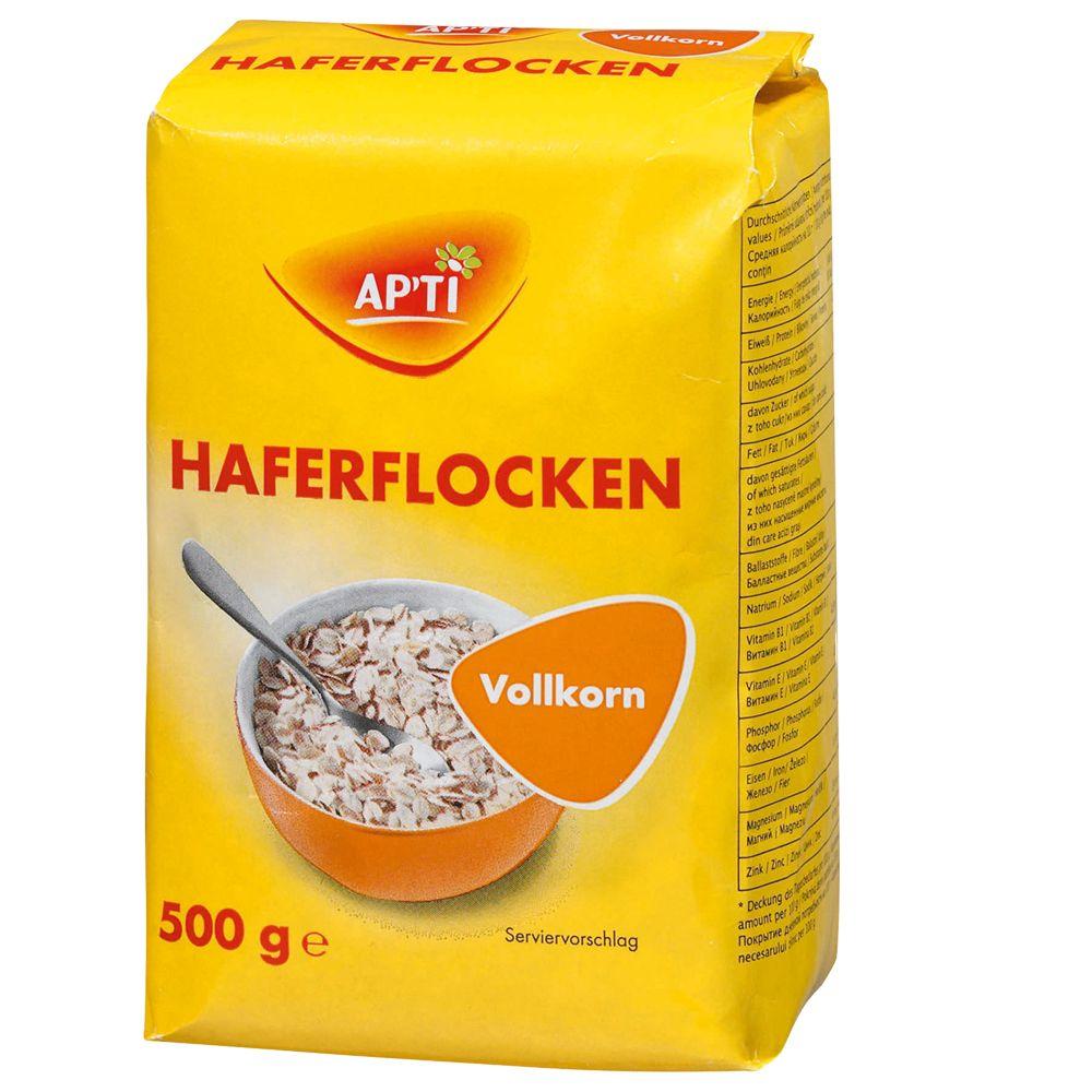 Image of Apti Haferflocken kernig - 3 x 500 g