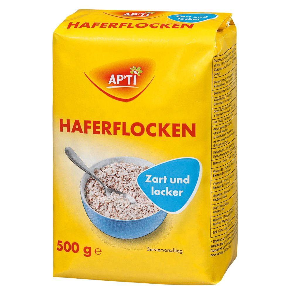 Image of Apti Haferflocken zart - 3 x 500 g