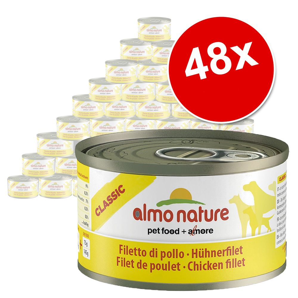 Foto Almo Nature Classic 48 x 95 g - Filetto di Pollo