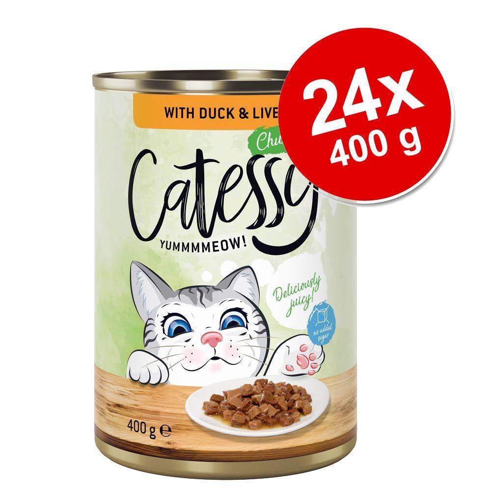Ekonomipack: Catessy bitar i sås eller gelé 24 x 400 g - Lax i gelé