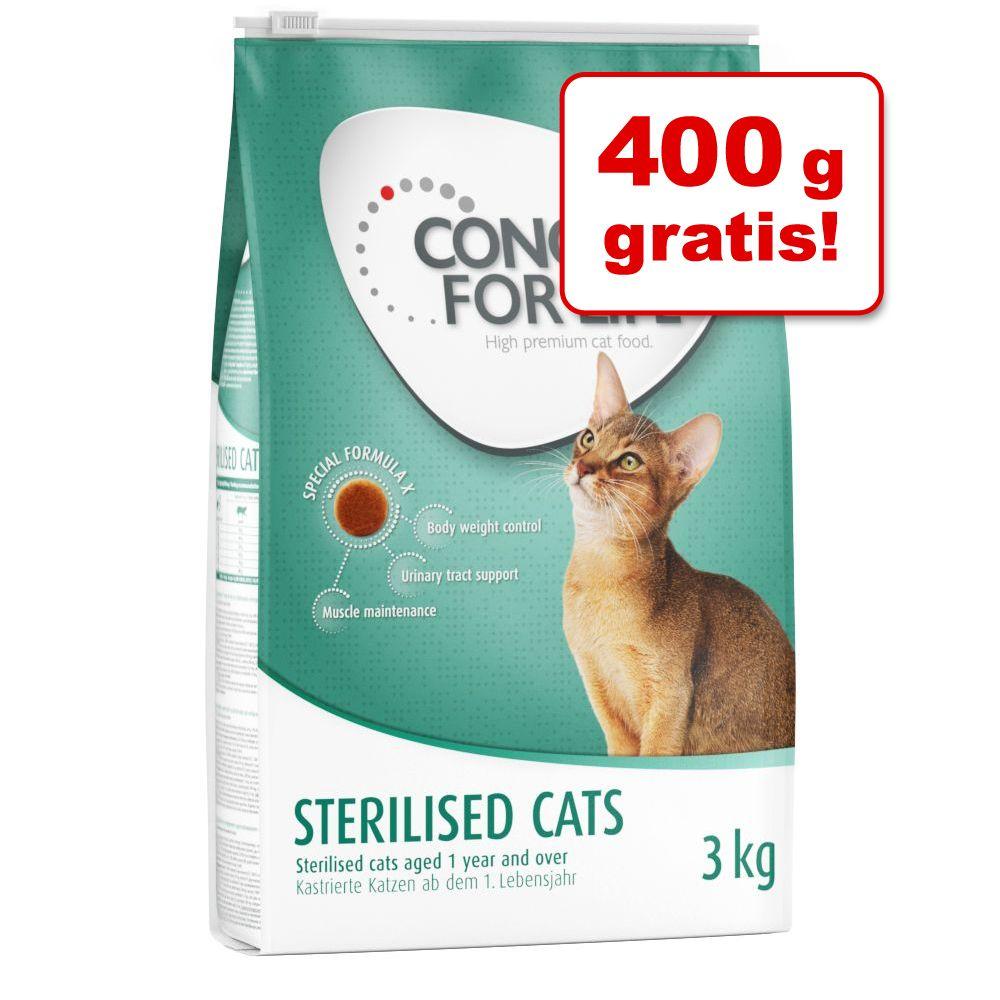 3,4 kg Concept for Life kattfoder: 3 kg + 400 g på köpet! - Outdoor Cats
