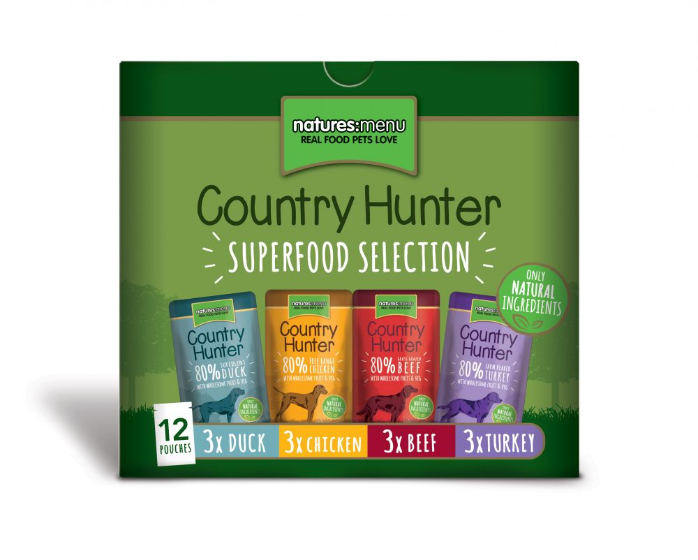 Country Hunter Superfood Selection Natures Menu Dog Food Pouches