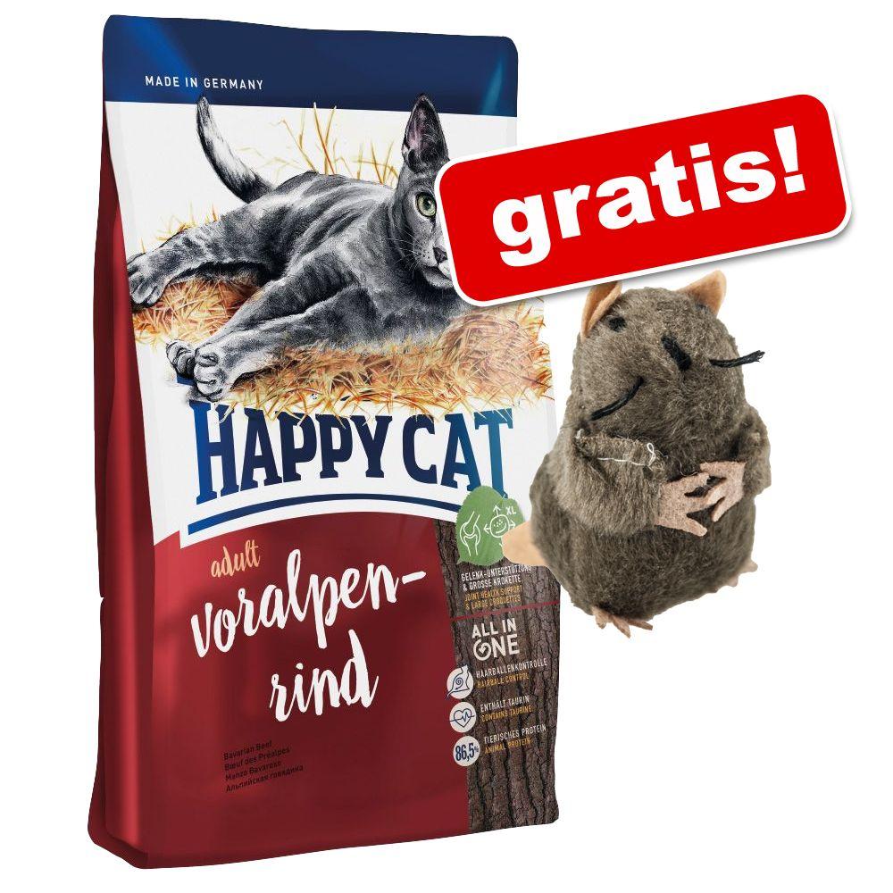 10 kg Happy Cat kattfoder + mullvad av plysch på köpet! – Adult Large Breed
