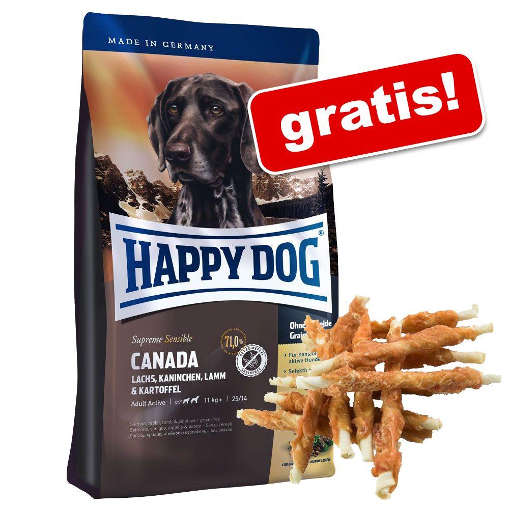 10 - 15 kg Happy Dog + Dokas tuggrullar med kycklingbröst på köpet! - Fit & Well Adult Maxi (15 kg)
