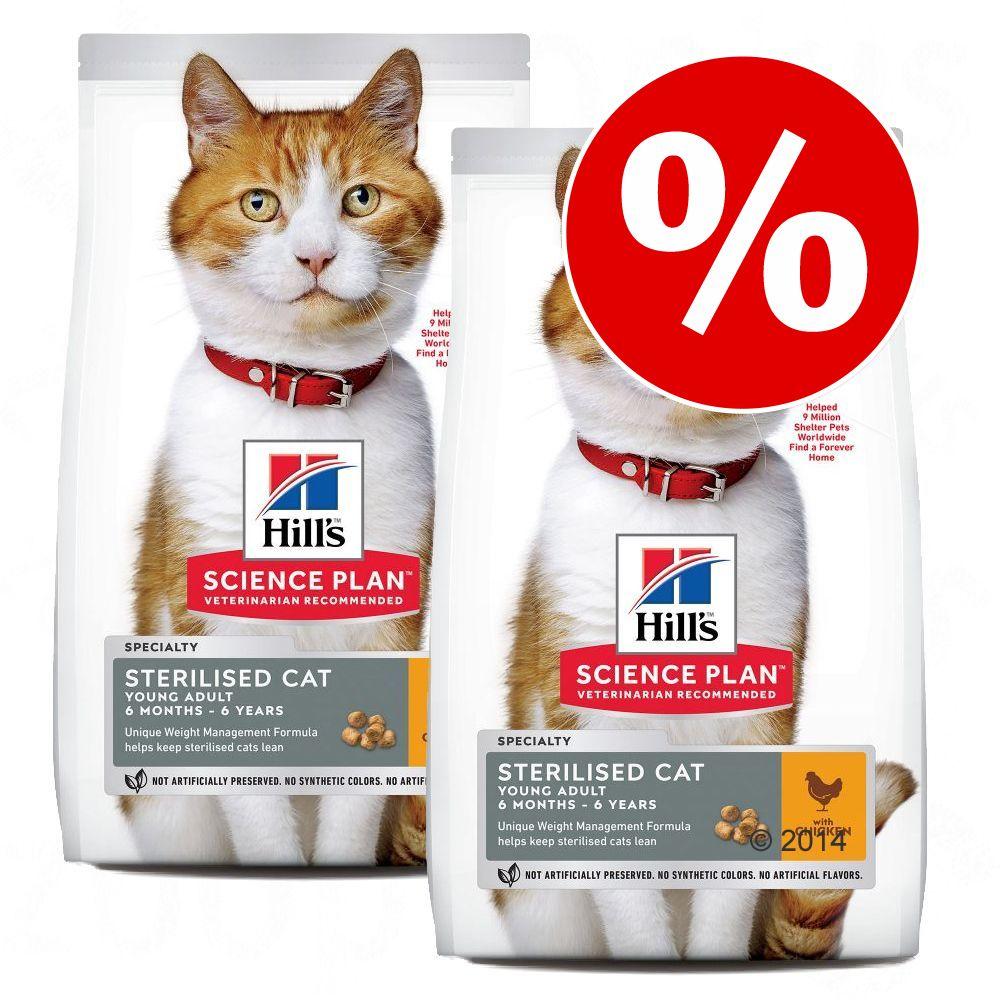 Hill's Science Plan Feline ração para gatos - Pack económico - Young Adult Sterilised com frango - 2 x 15 kg