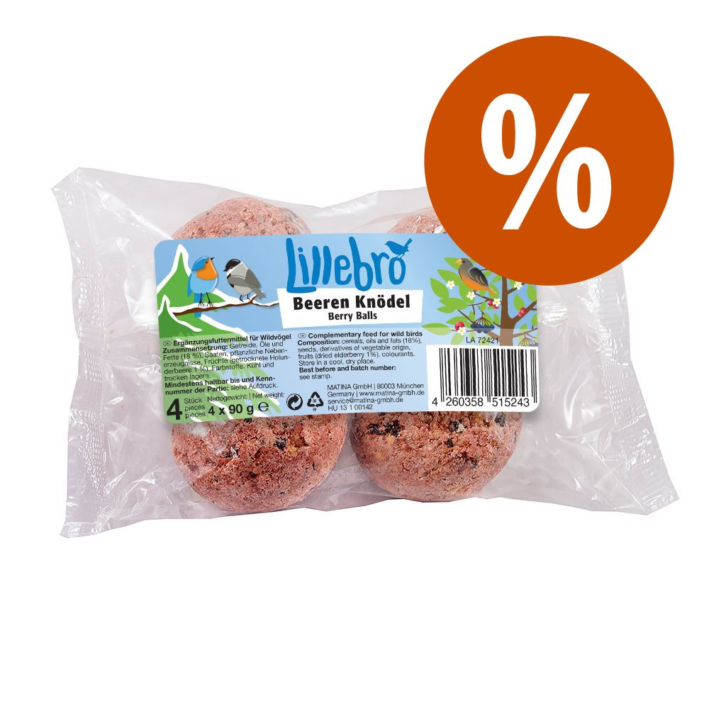 Image of Prezzo speciale! 4 x 90 g Lillebro Pastone di bacche per uccelli selvatici - 4 x 90 g
