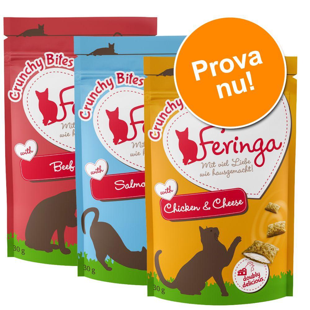 Blandat provpack: Feringa Crunchy Bites - 3 x 30 g (3 sorter)