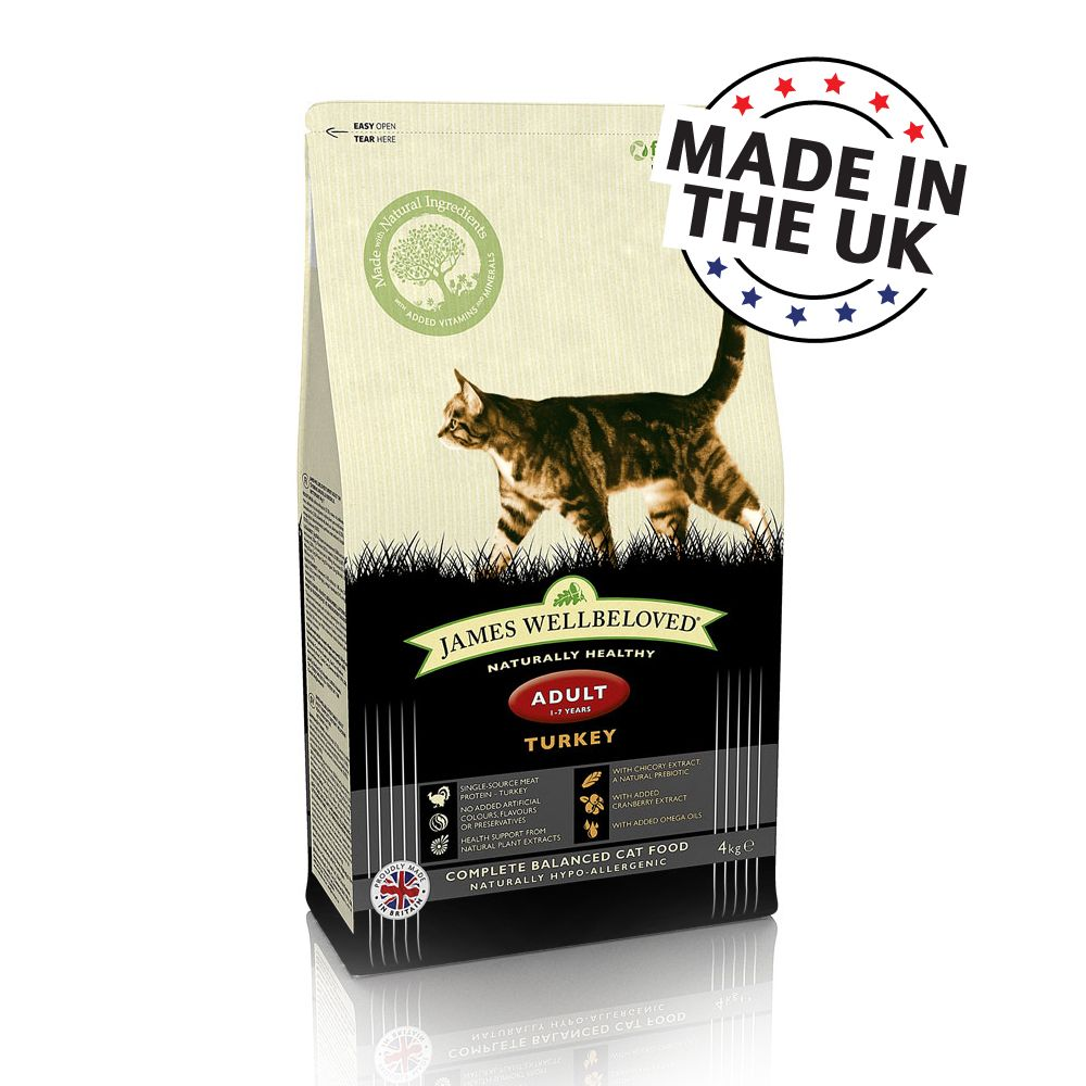 Image of James Wellbeloved Adult Cat - Tacchino - 4 kg