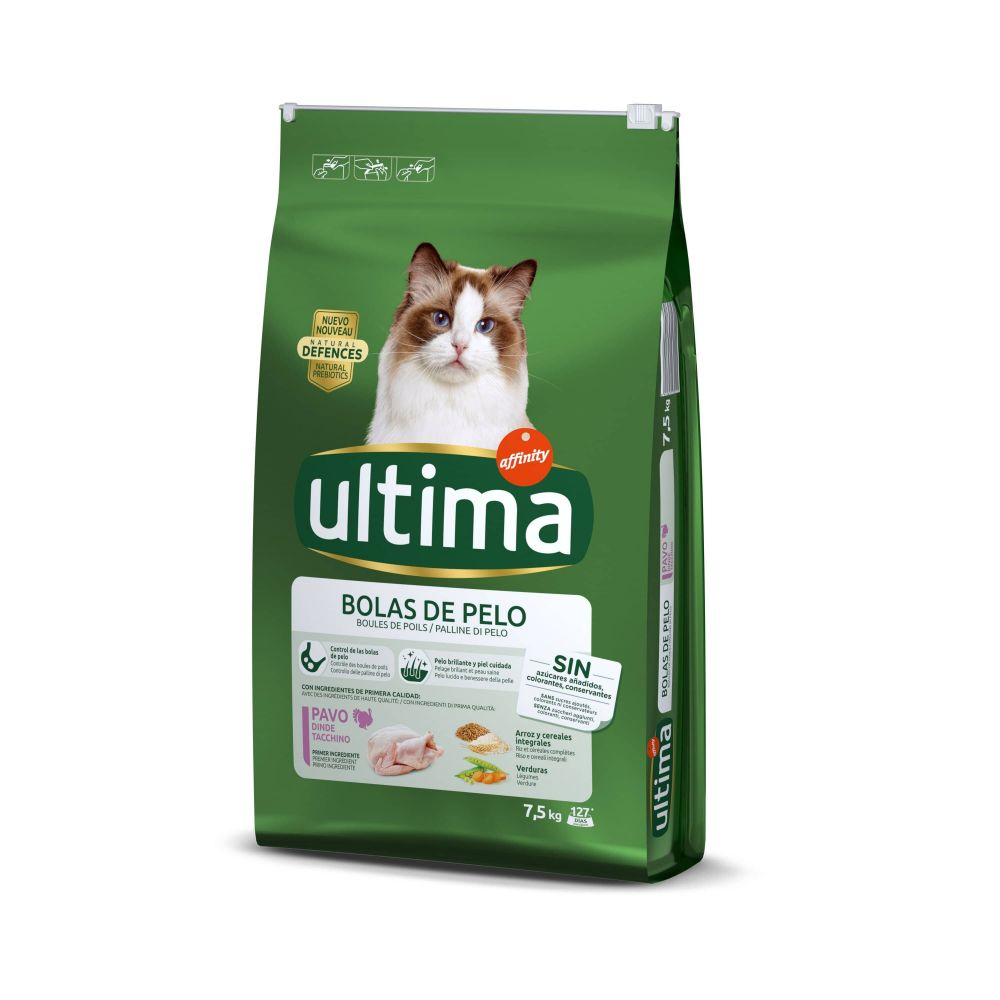 Ultima Cat Hairball Turkey & Rice - Ekonomipack: 2 x 7,5 kg