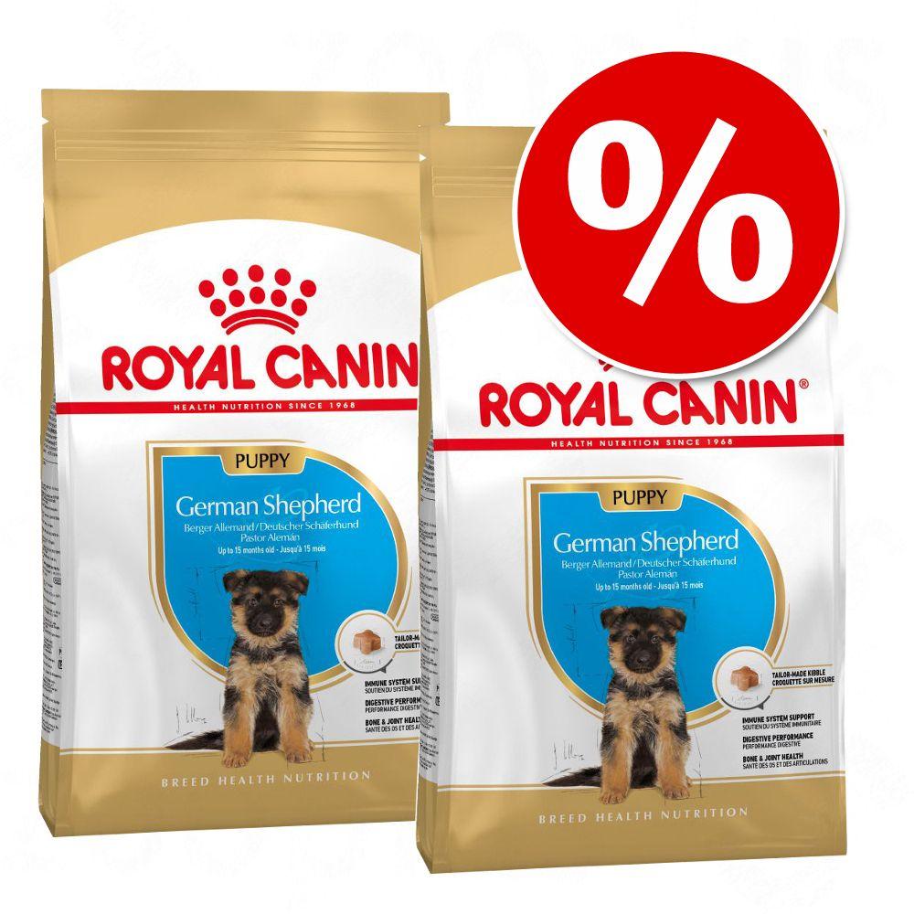 Ekonomipack: 2 / 3 påsar Royal Canin Breed Puppy / Junior German Shepherd Puppy (2 x 12 kg)