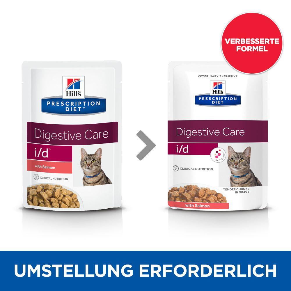 Hill's Prescription Diet i/d Digestive Care Katzenfutter mit Lachs - 12 x 85 g