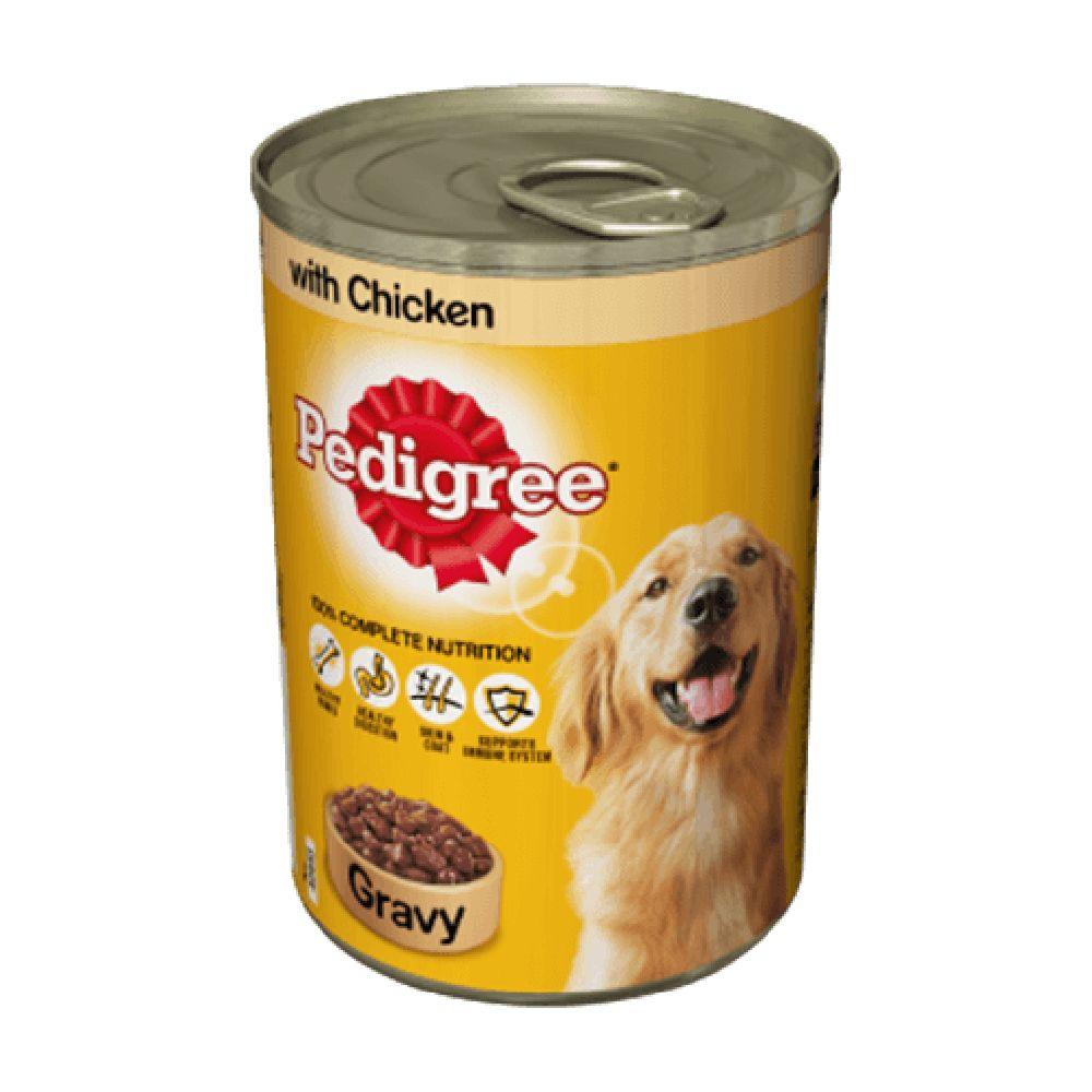 Pedigree Tin with Chicken in Gravy - Saver Pack: 24 x 400g
