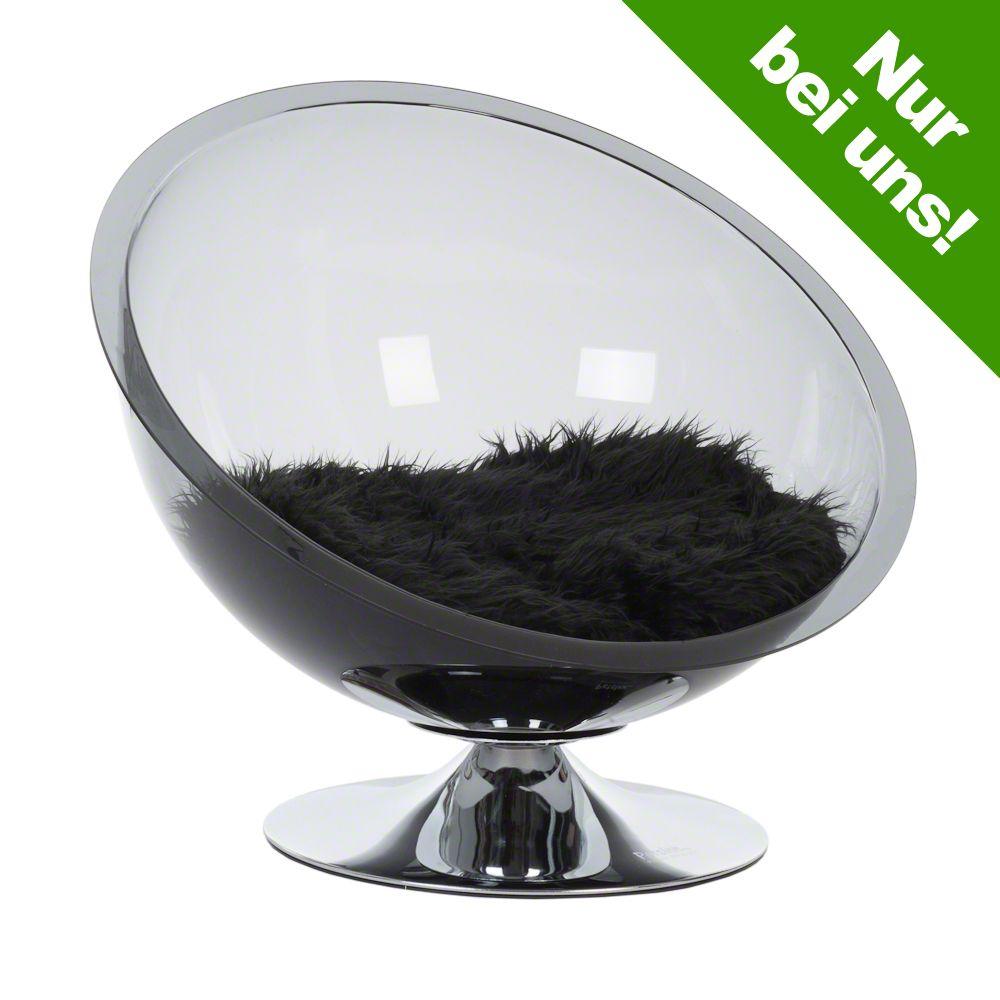 Image of Retro Pet Nest Grey - Ø 60 cm grau-transparent / schwarz