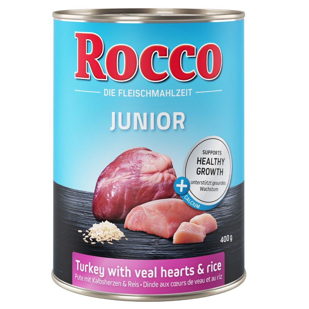 Poultry Game Rice & Calcium Junior Rocco Wet Dog Food