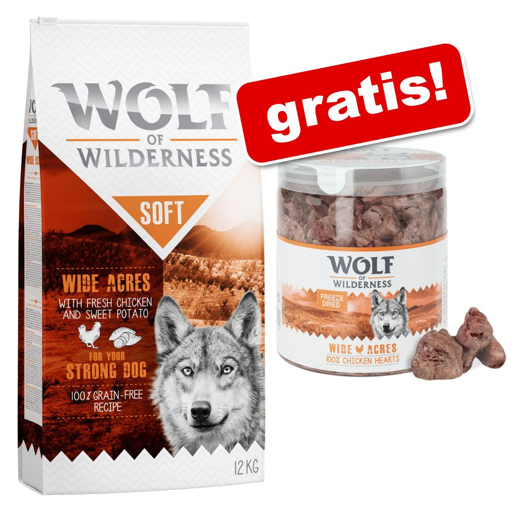 Wolf of Wilderness: 12 kg Trockenfutter + Gefri...