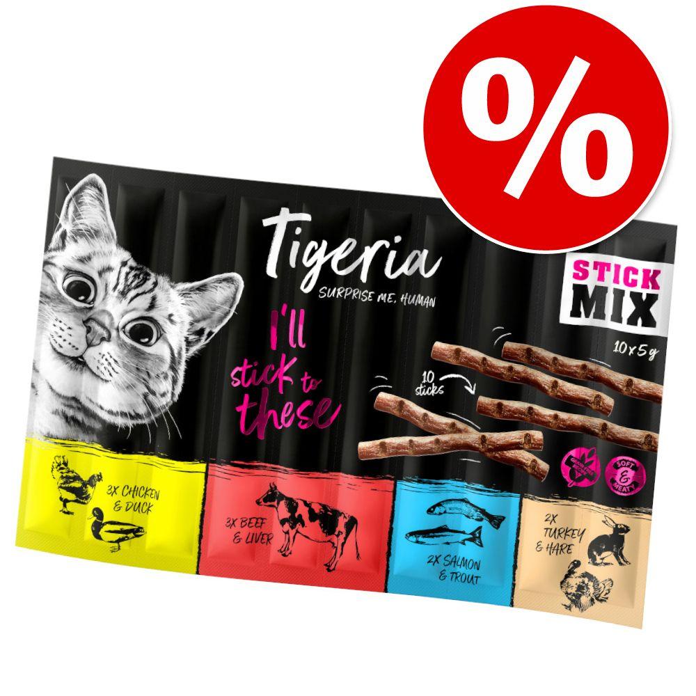 15 + 5 gratis! Tigeria Sticks 20 x 5 g - Huhn & Ente