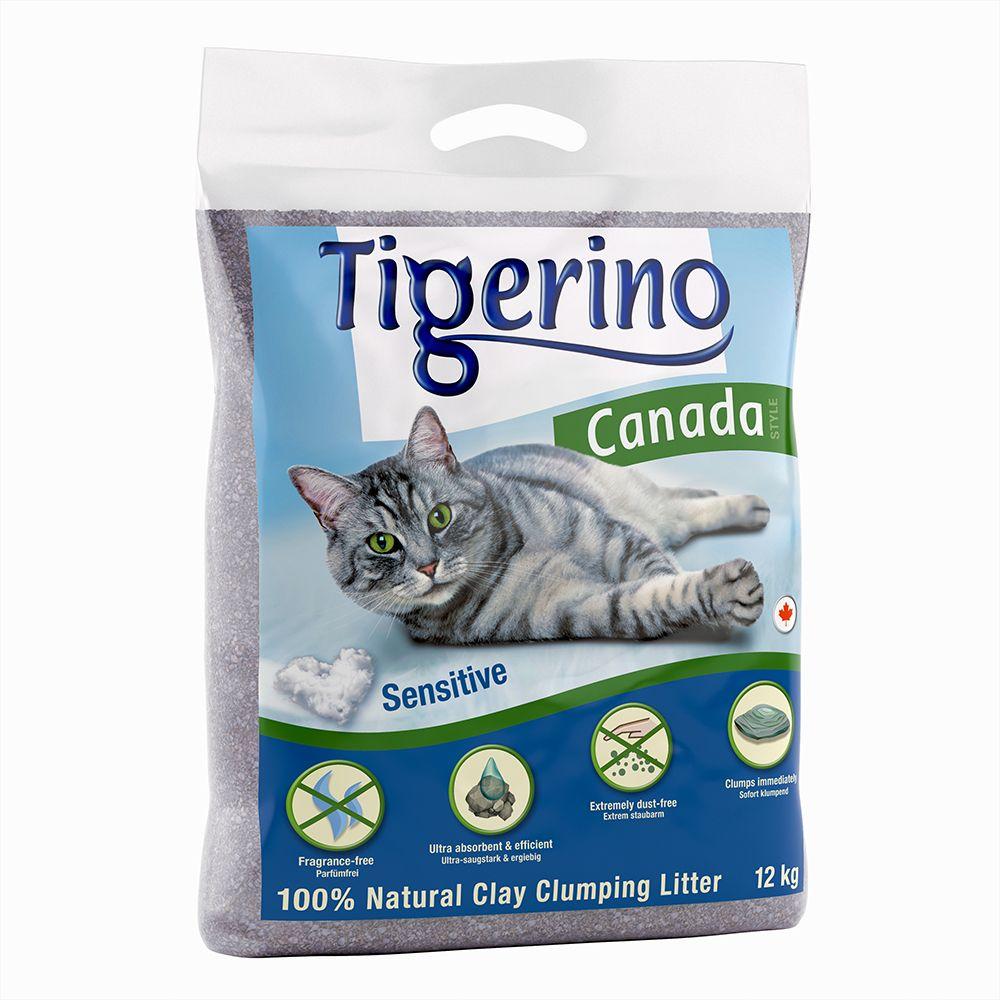 2x12kg Canada Sensitive Tigerino - Litière pour Chat