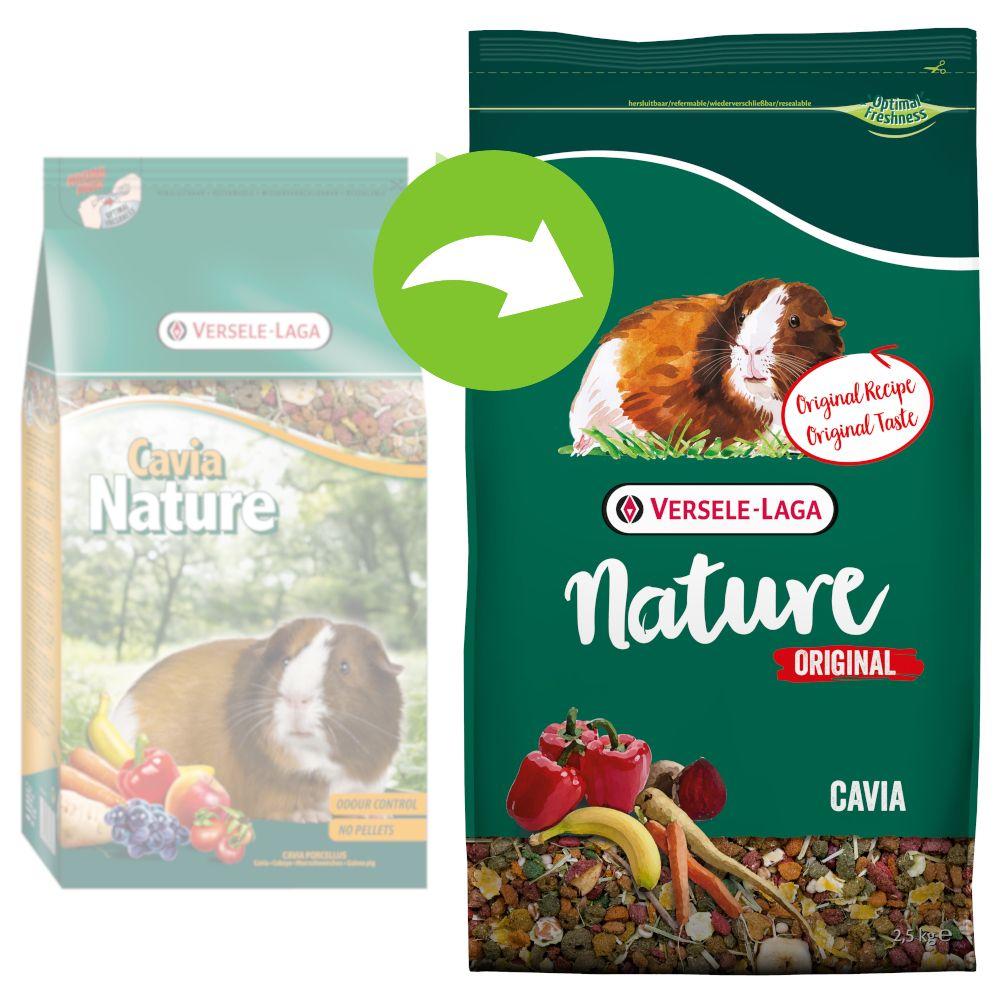 2x9kg Versele-Laga Nature Original Cavia - Nourriture pour cochon d'inde
