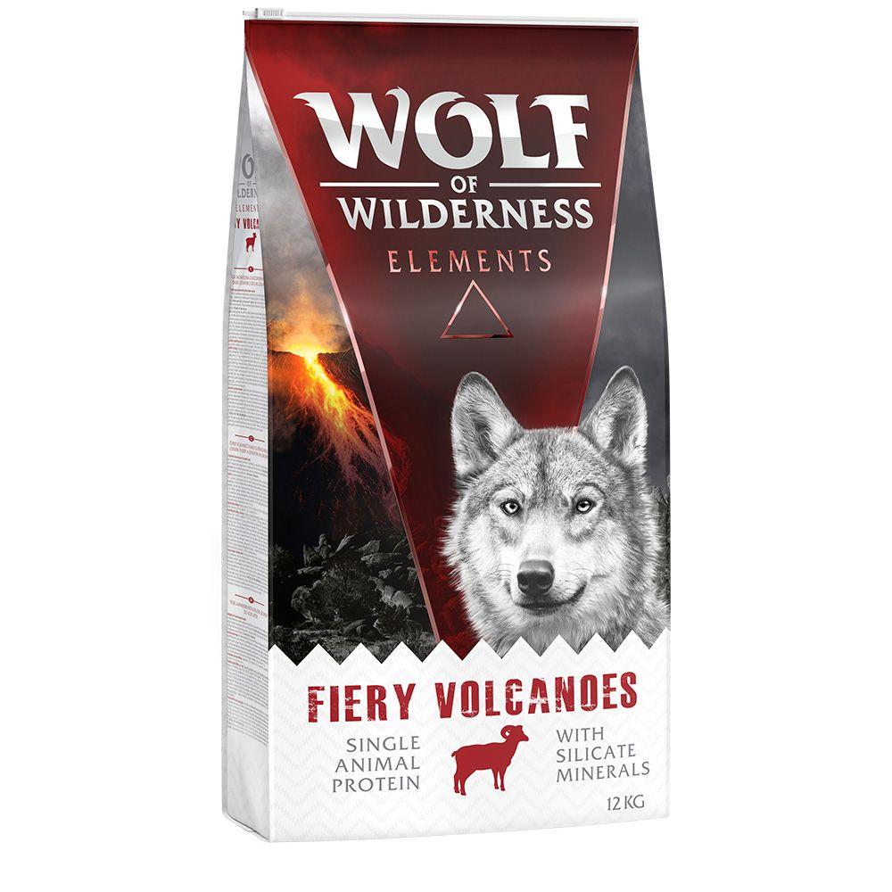 12kg Wolf of Wilderness Elements Fiery Volcanoes, agneau - Croquettes pour chien