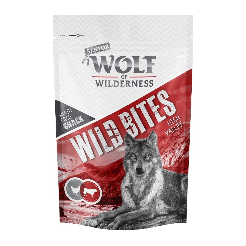 3x180g Beef&Chicken Wild Bites Senior High Valley Wolf of Wilderness Dog Snacks