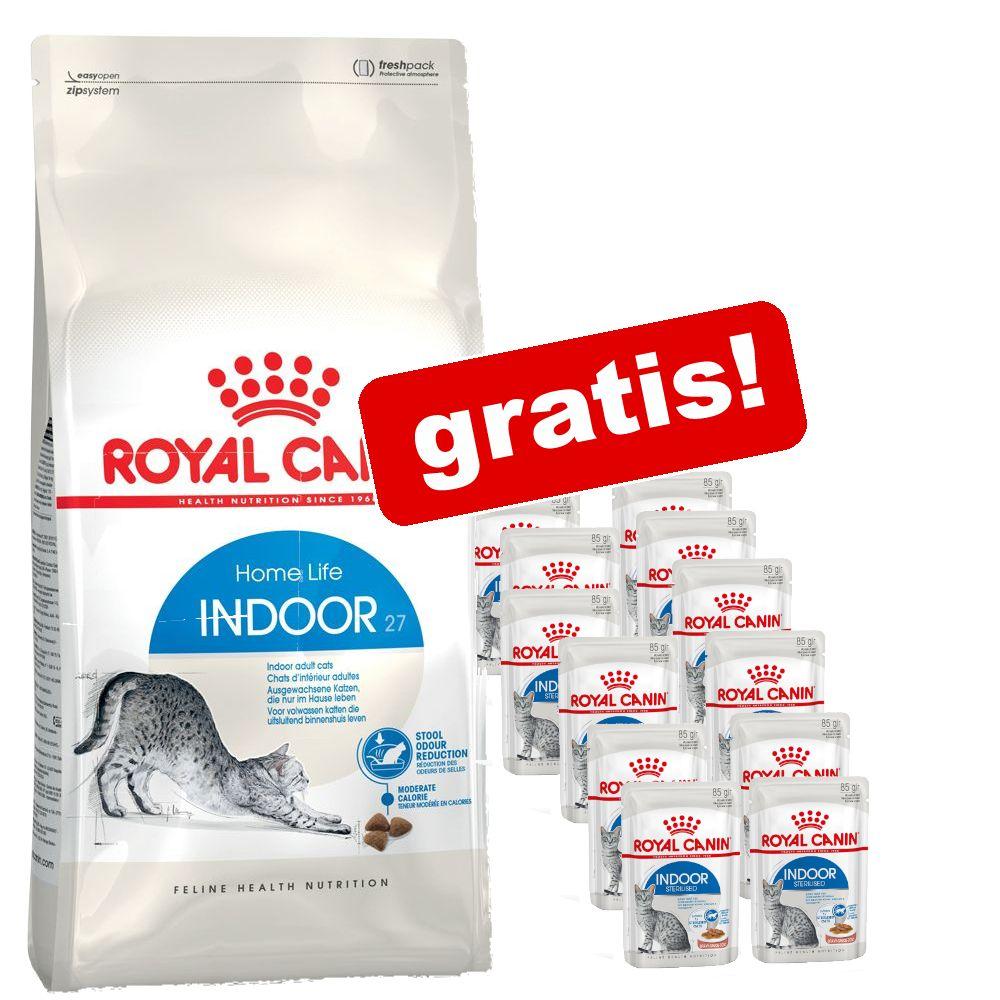 10 kg Royal Canin + 12 x 85 g / 195 g passande våtfoder på köpet! - Active Life Outdoor + 12 x 85 g Instinctive in Gelee